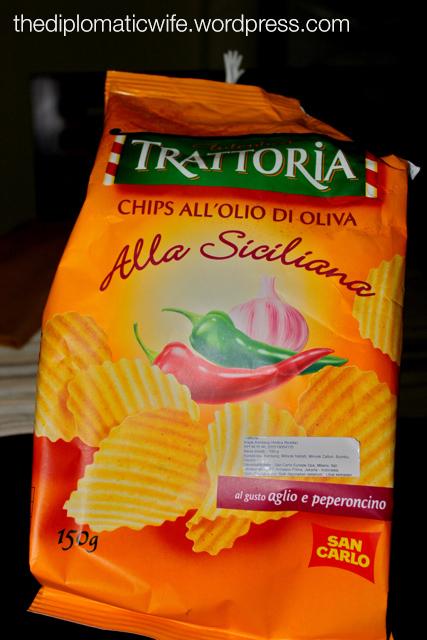Autentica Trattoria Chips Alla Siciliana - Chips all'olio di oliva, aglio & peperoncino)
