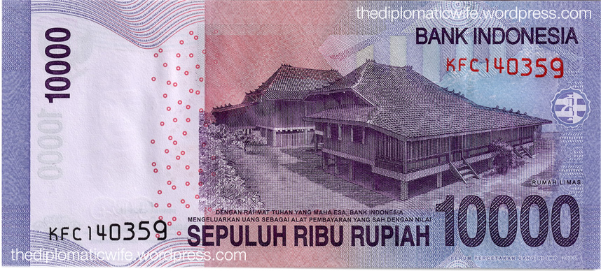 The new Rp 10,000 bill