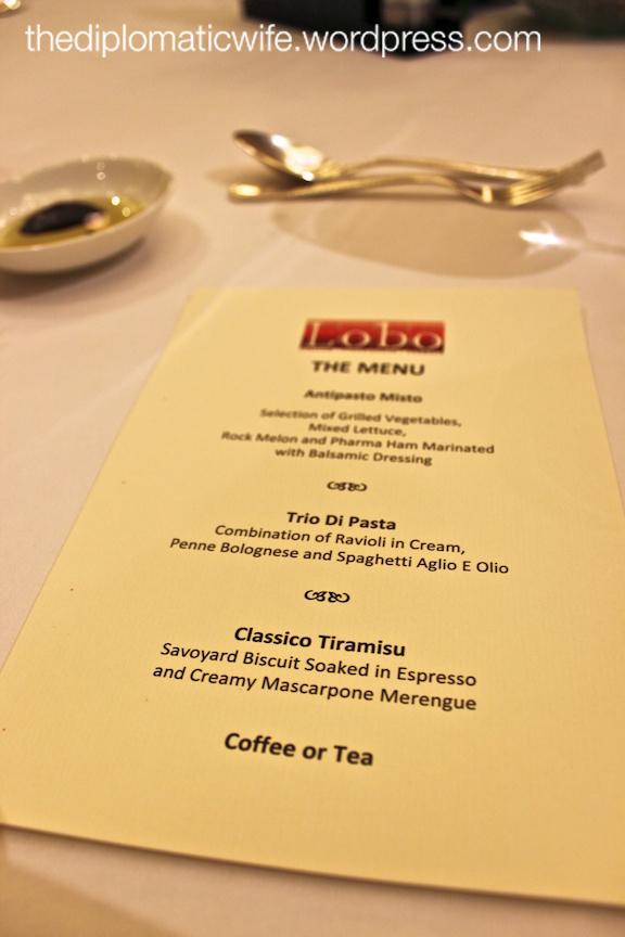 Ritz Carlton Italian vs Pastry Cooking Class lunch menu