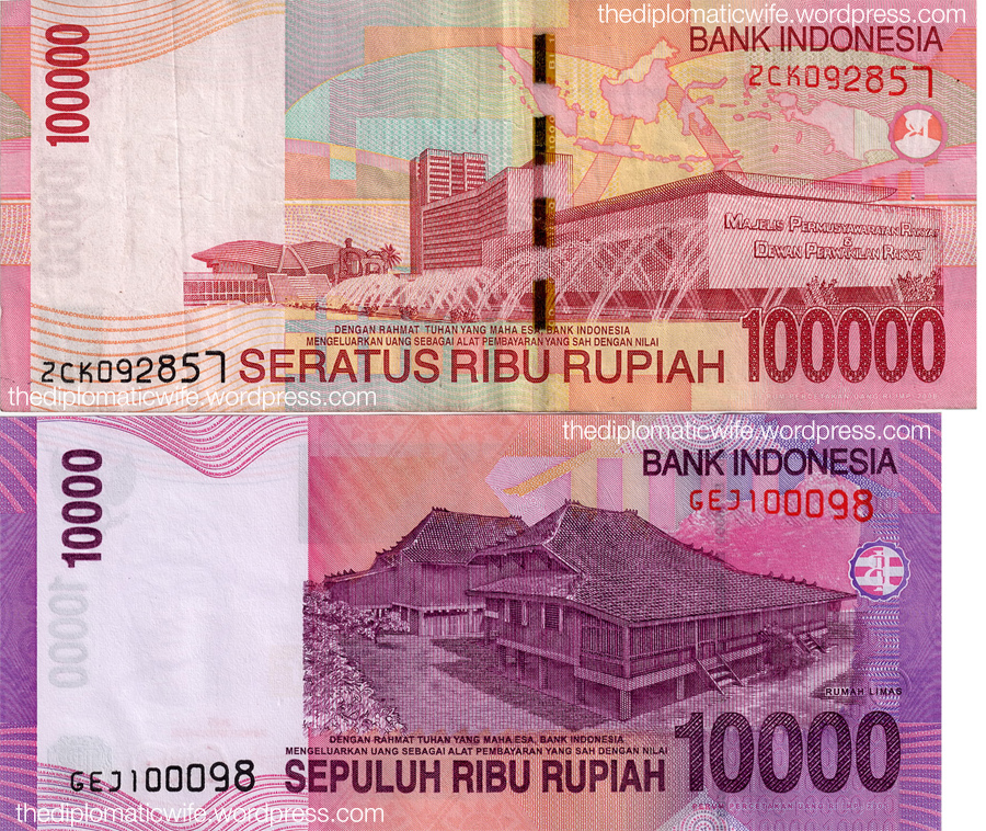 Rp 100,000 and Rp 10,000