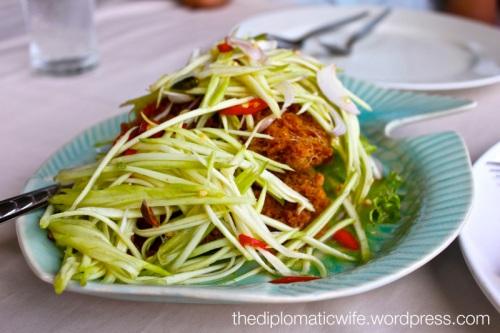 Crispy Catfish Salad at Phong Phang - Palai Bay Phuket Thailand