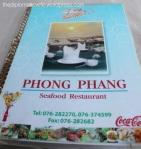 Phong Phang Menu - Palai Bay Phuket Thailand