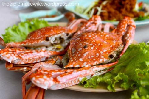 Steamed or boiled crabs at Phong Phang - Palai Bay Phuket Thailand