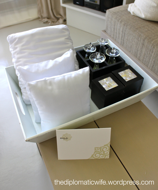 Sala Phuket Boutique Resort choice of pillows, soaps and lotions