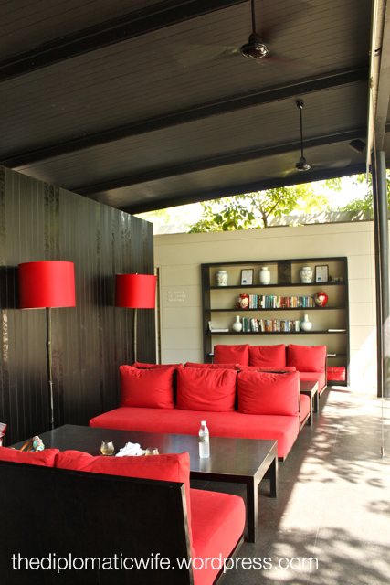 Sala Phuket Boutique Resort waiting area and library