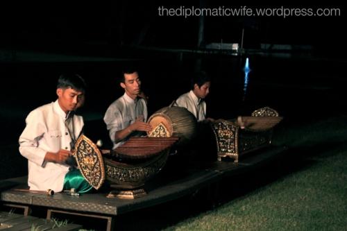 Traditional Thai music at the Thai Cultural Evening in Sala Restaurant Phuket Thailand