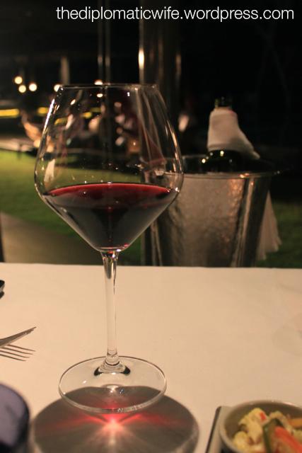 Chilled bottle of wine at Sala Restaurant Phuket Thailand