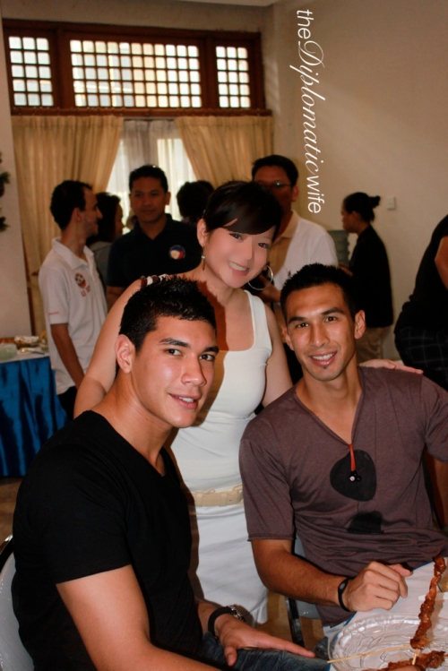 Azkals/Philippine National Team: Neil Etheridge (Goalie) and Anton Del Rosario (Right-back, Azkals/Philippine National Team)