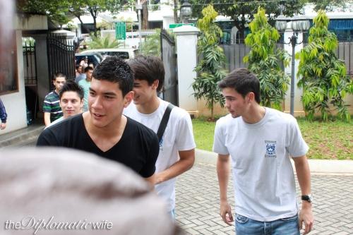 Azkals/Philippine Men's Football Team: Neil Etheridge (Goal Keeper), James (winger) and Phil Younghusband (Striker)